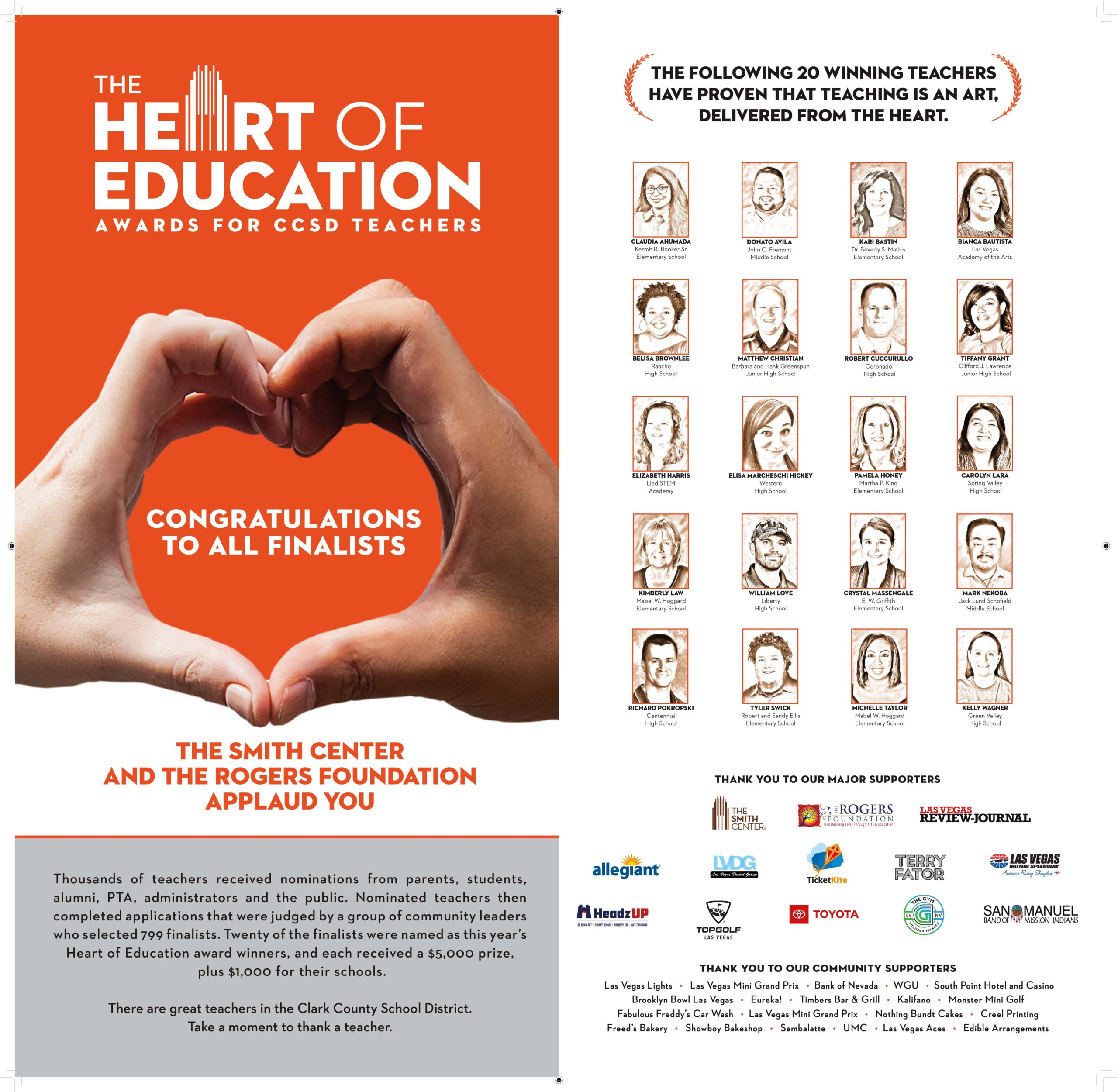 LVRJ CCSD Heart of Education Awards