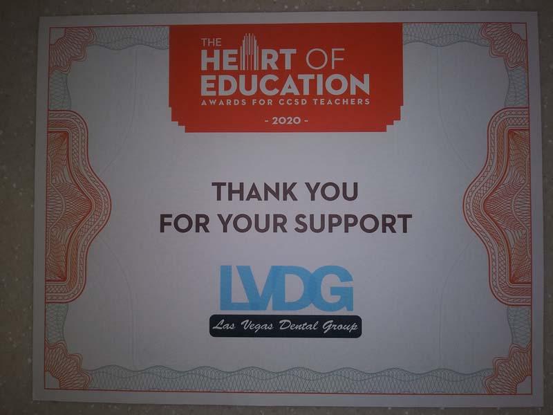 LVDG Sponsor Certificate